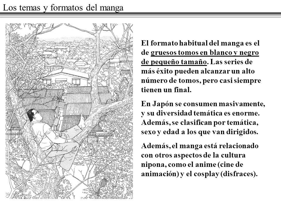 Los temas y formatos del manga