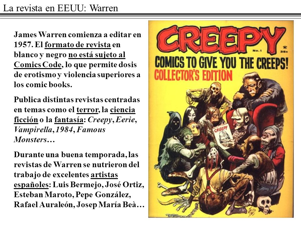 La revista en EEUU: Warren
