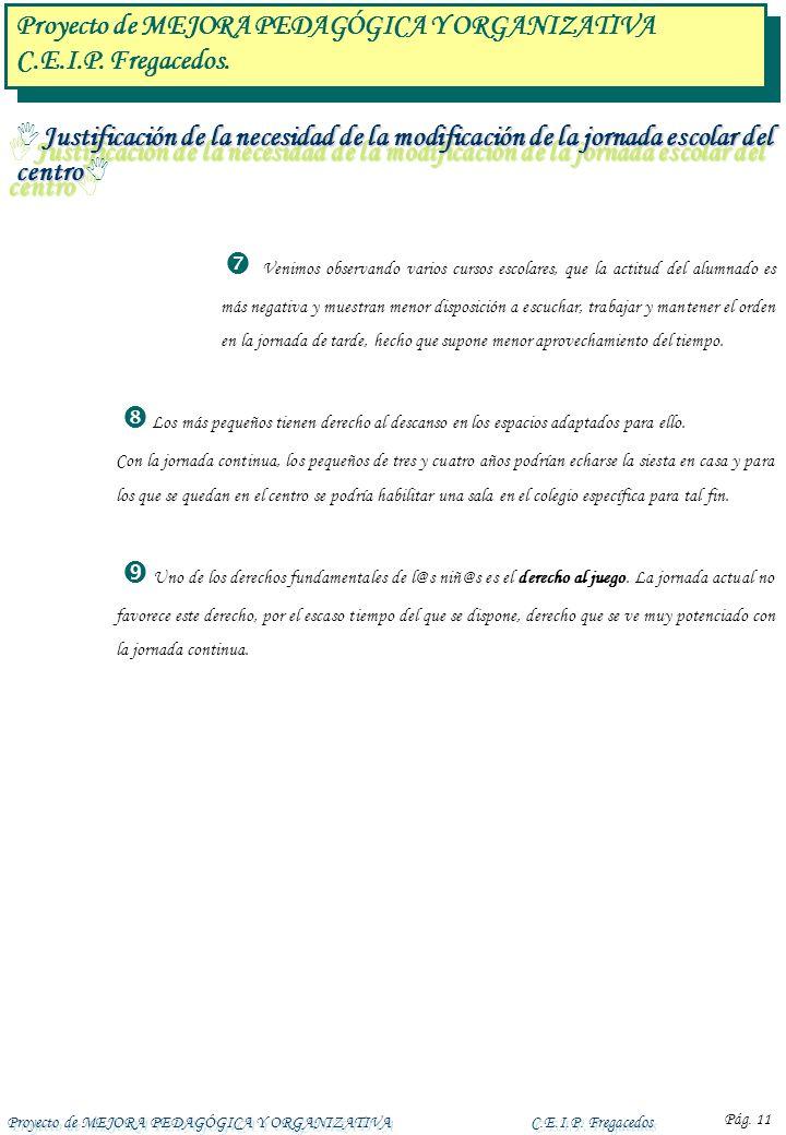 Proyecto de MEJORA PEDAGÓGICA Y ORGANIZATIVA C.E.I.P. Fregacedos.