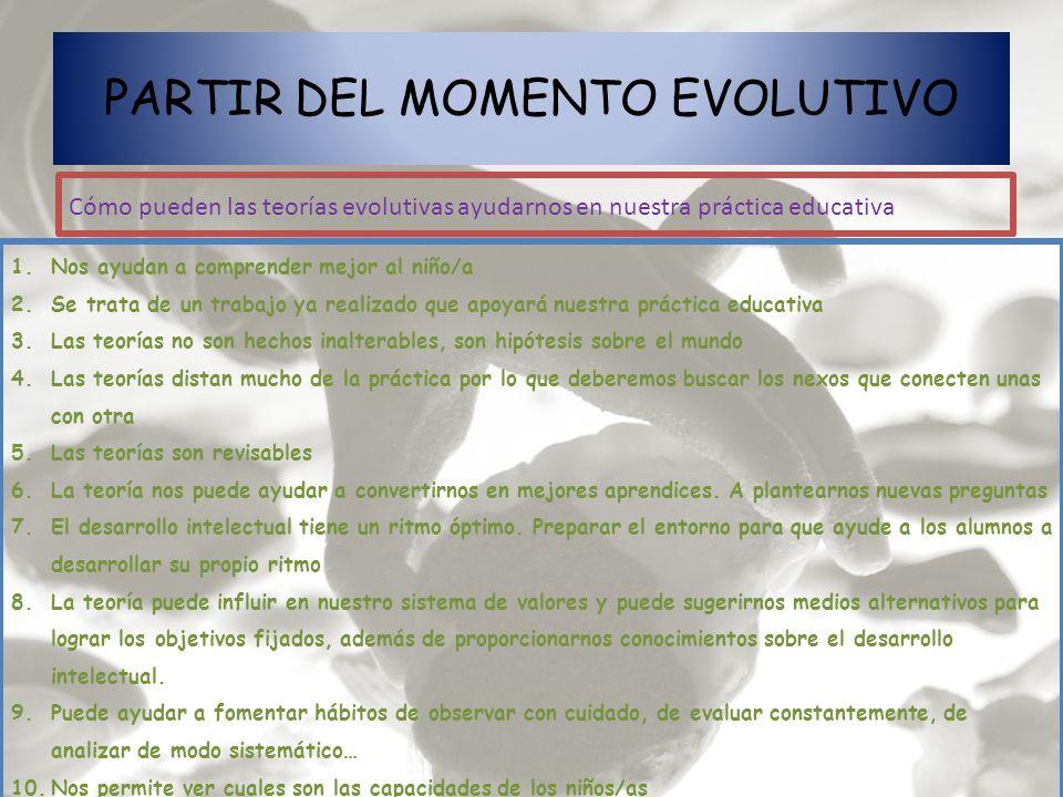 PARTIR DEL MOMENTO EVOLUTIVO