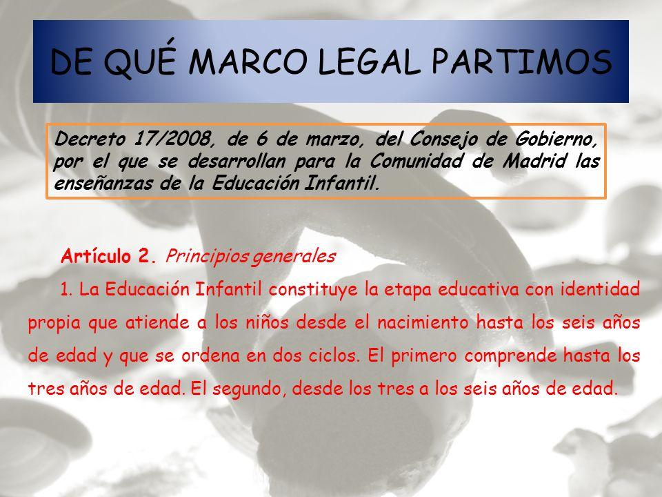 DE QUÉ MARCO LEGAL PARTIMOS
