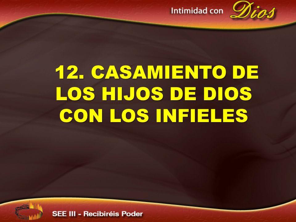 12. CASAMIENTO DE LOS HIJOS DE DIOS CON LOS INFIELES