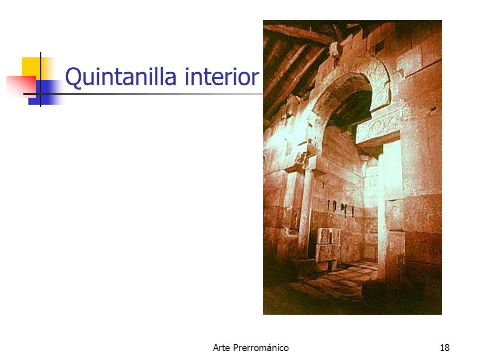 Quintanilla interior Arte Prerrománico