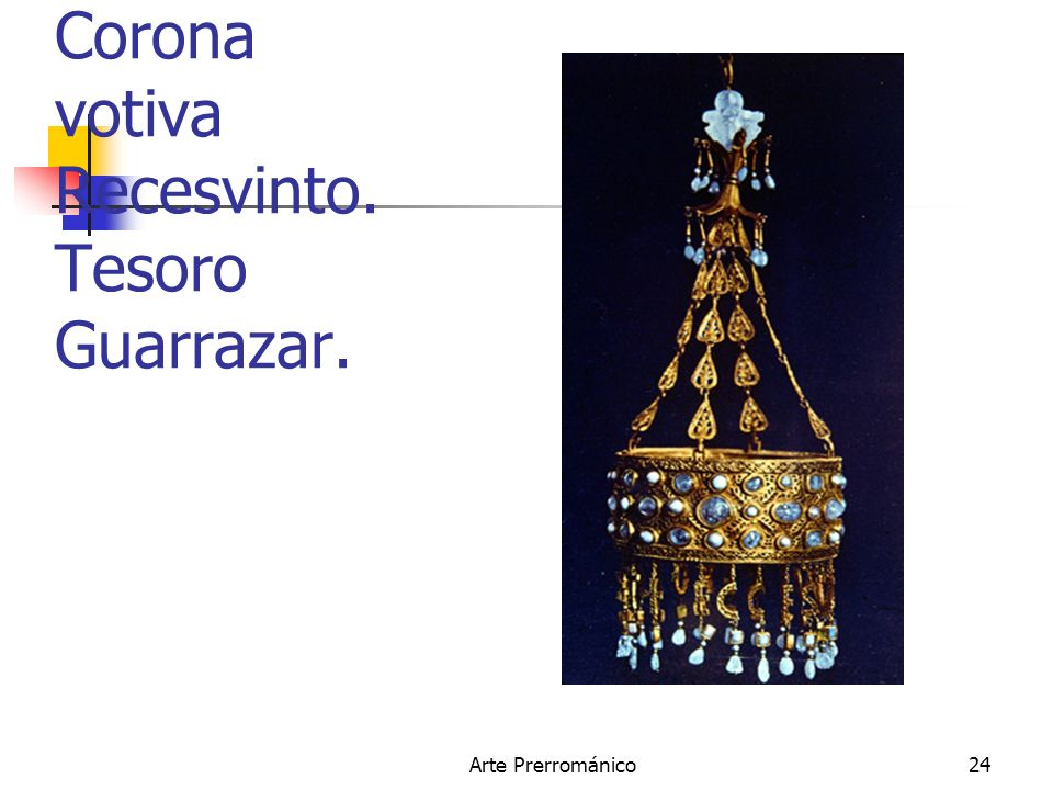 Corona votiva Recesvinto. Tesoro Guarrazar.