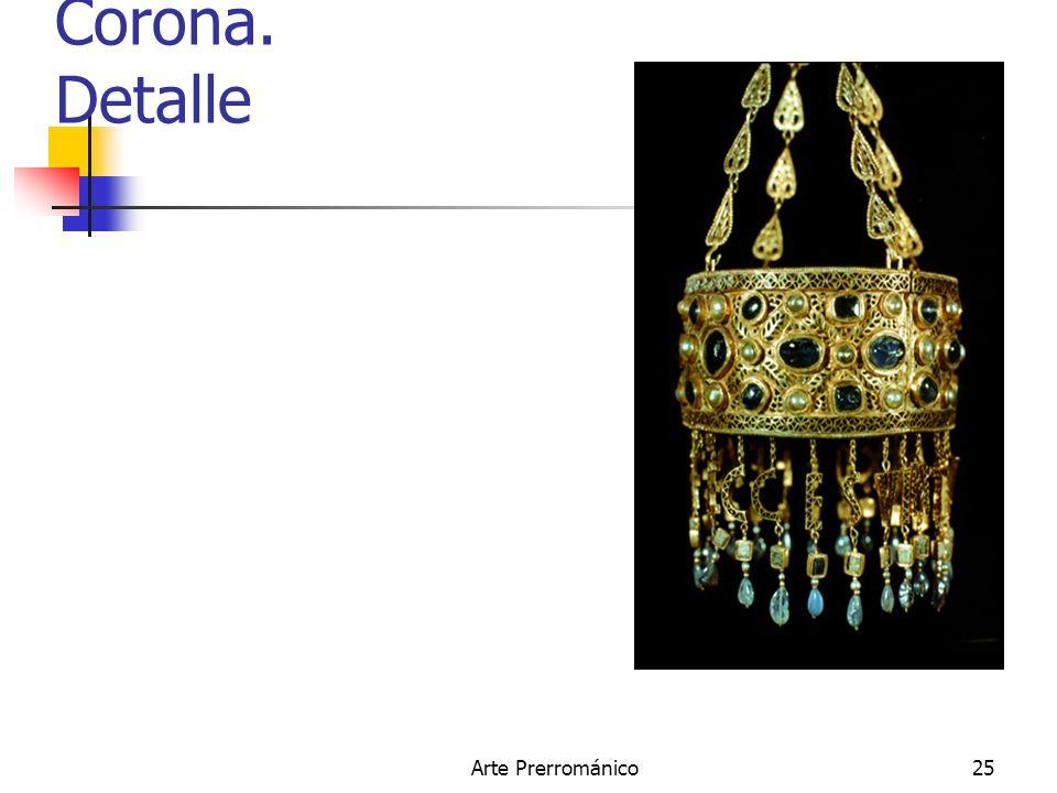 Corona. Detalle Arte Prerrománico
