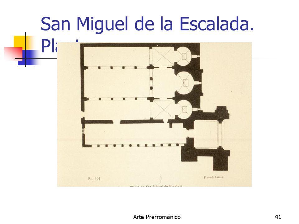 San Miguel de la Escalada. Planta.