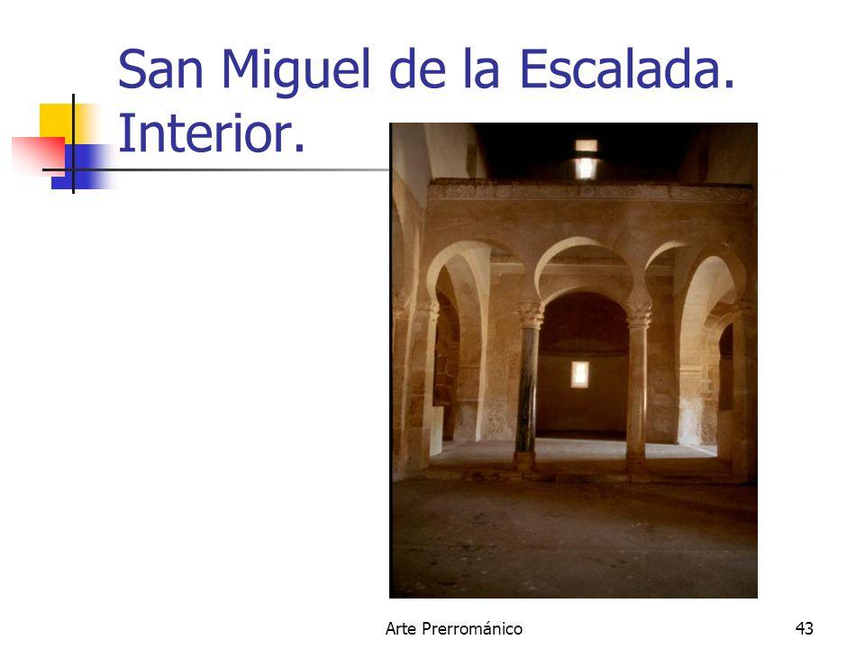 San Miguel de la Escalada. Interior.