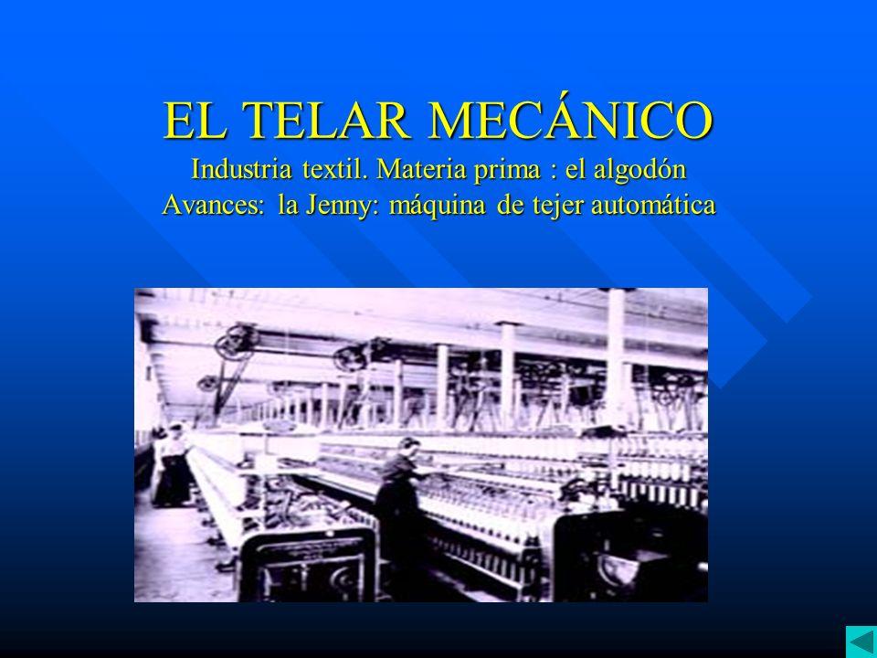 EL TELAR MECÁNICO Industria textil
