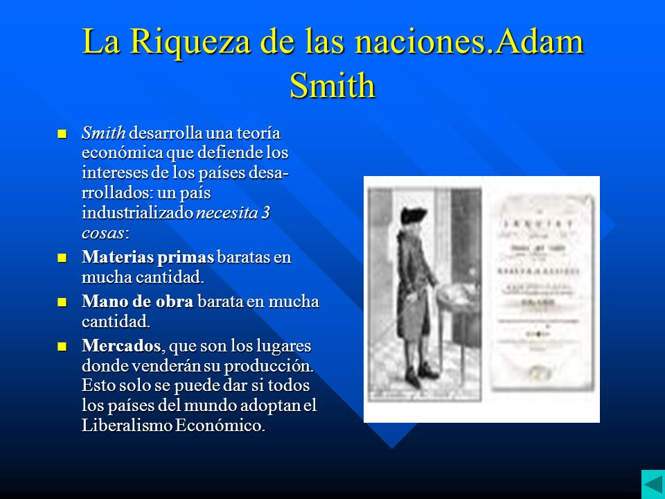 La Riqueza de las naciones.Adam Smith