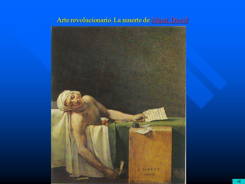 Arte revolucionario. La muerte de Marat. David