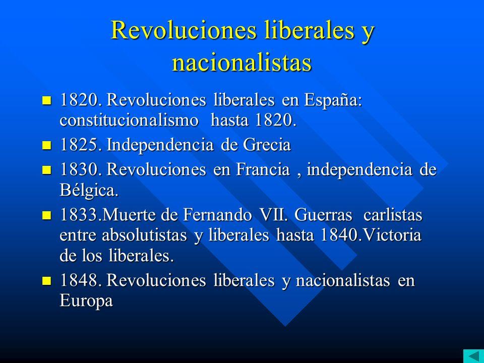 Revoluciones liberales y nacionalistas
