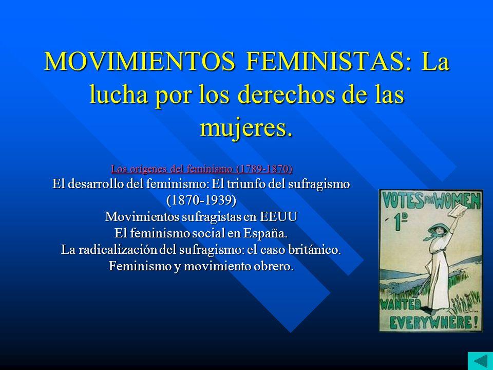 MOVIMIENTOS FEMINISTAS: La lucha por los derechos de las mujeres.