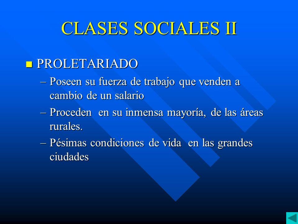 CLASES SOCIALES II PROLETARIADO