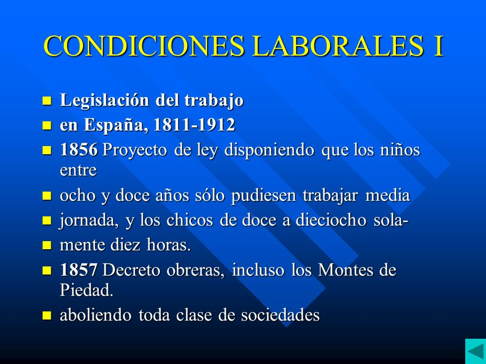 CONDICIONES LABORALES I