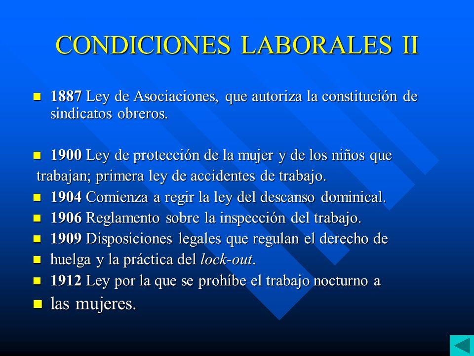 CONDICIONES LABORALES II