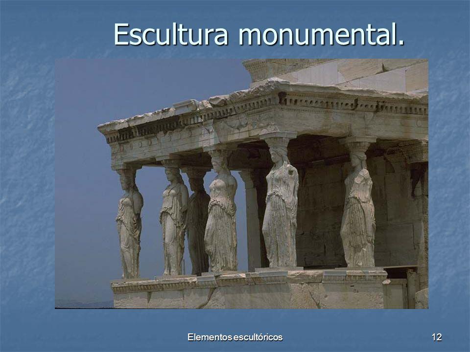 Elementos escultóricos