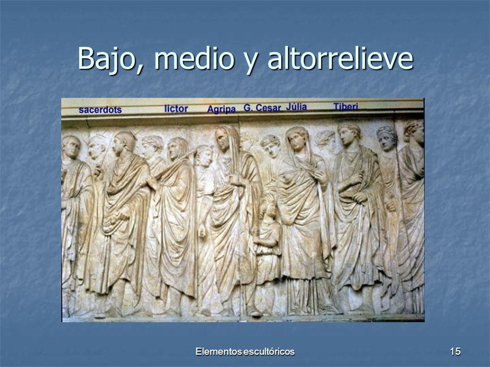 Bajo, medio y altorrelieve