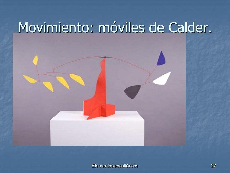 Movimiento: móviles de Calder.