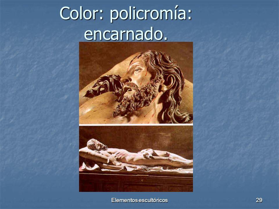Color: policromía: encarnado.