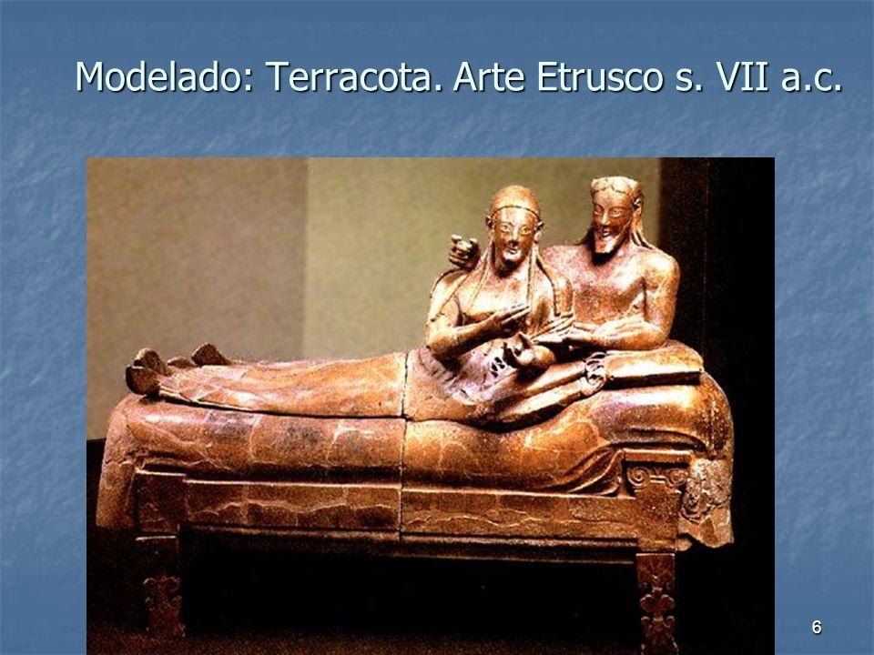 Modelado: Terracota. Arte Etrusco s. VII a.c.