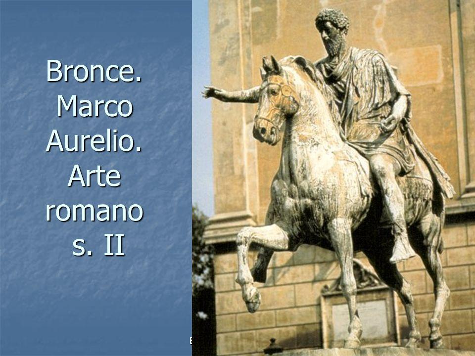 Bronce. Marco Aurelio. Arte romano s. II