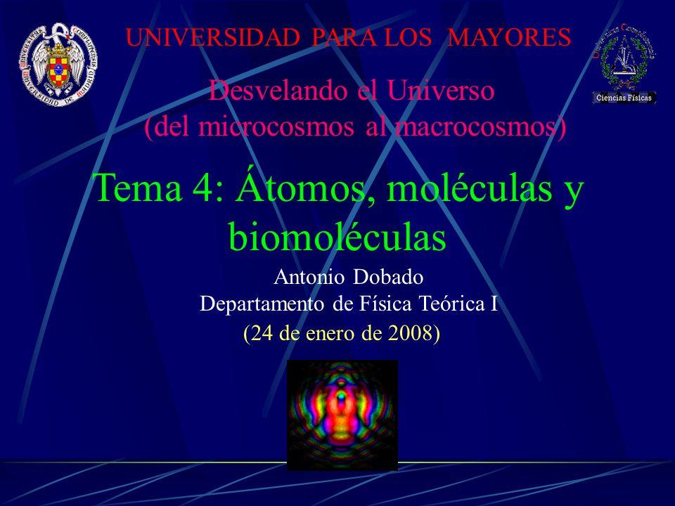 Tema 4: Átomos, moléculas y biomoléculas