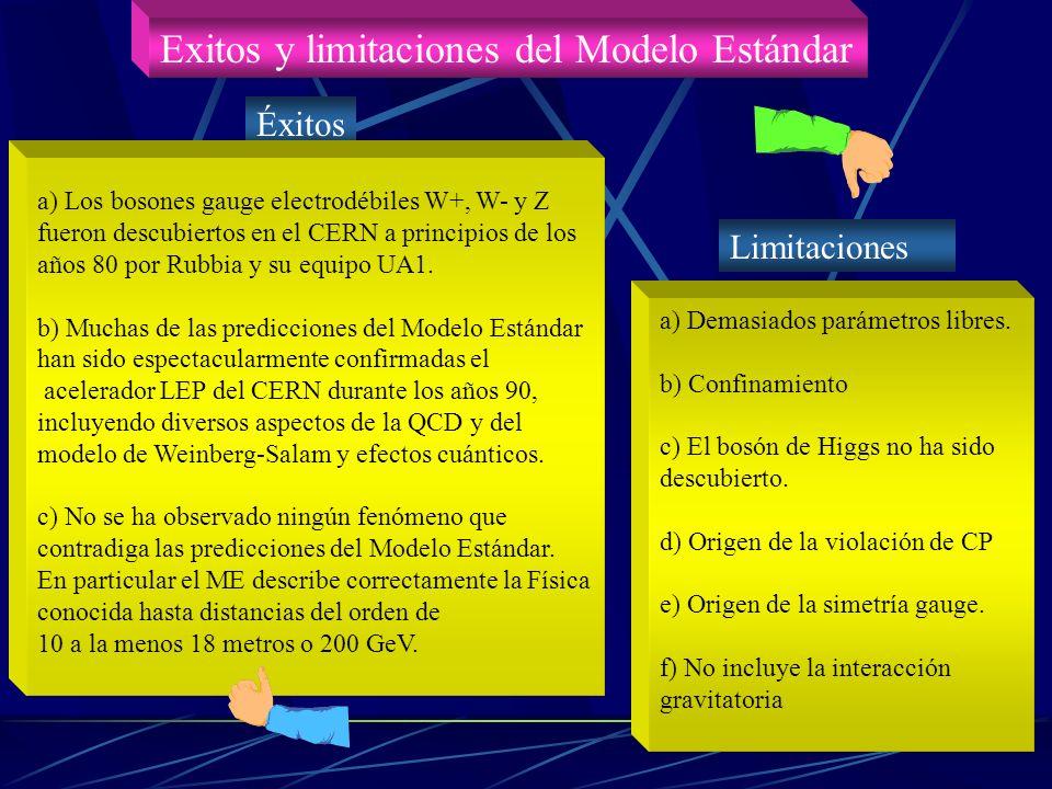 Exitos y limitaciones del Modelo Estándar
