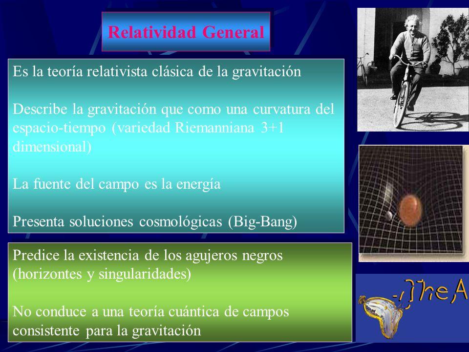 Relatividad General Es la teoría relativista clásica de la gravitación