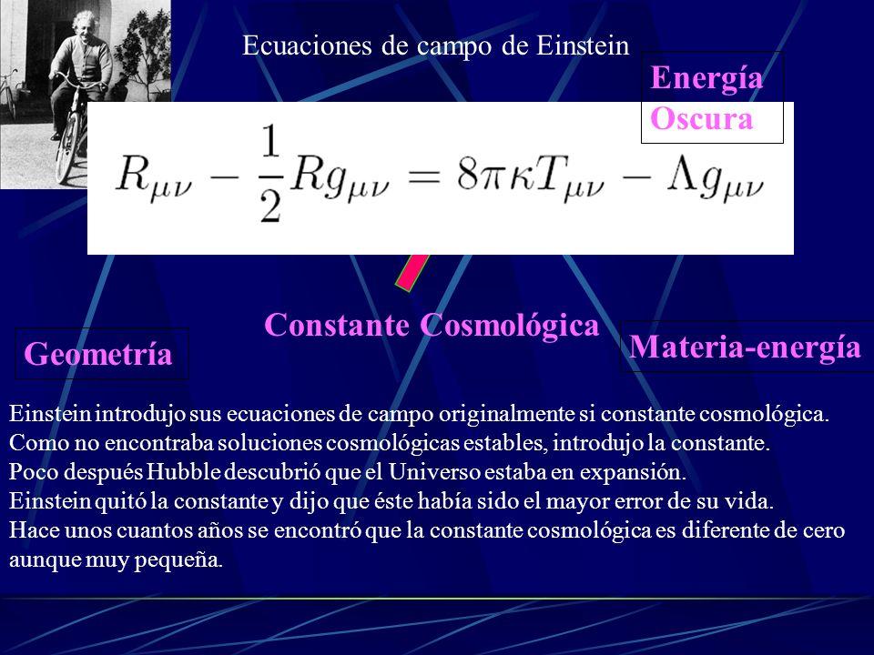 Constante Cosmológica Materia-energía Geometría