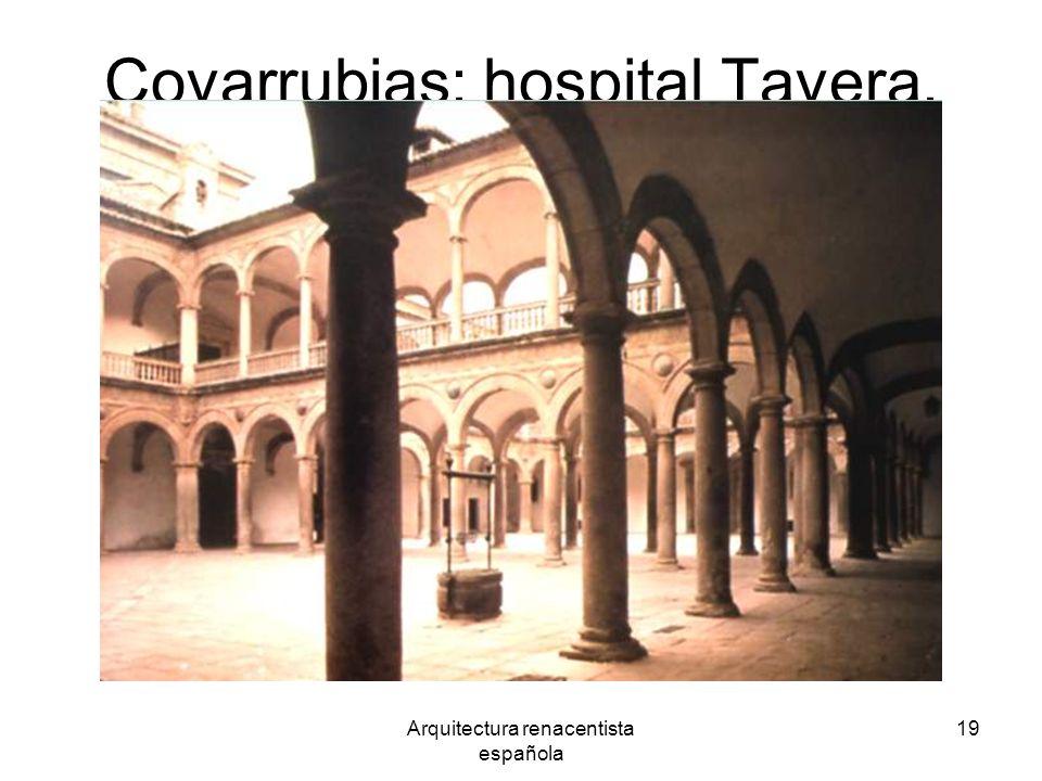 Covarrubias: hospital Tavera.
