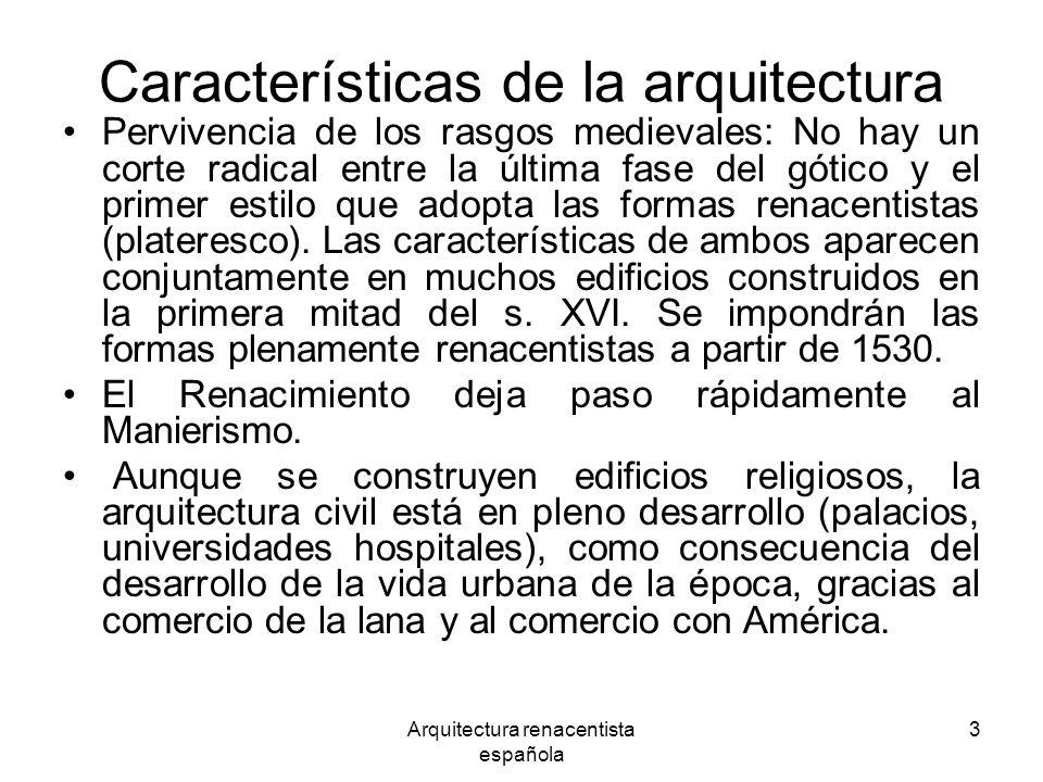 Características de la arquitectura