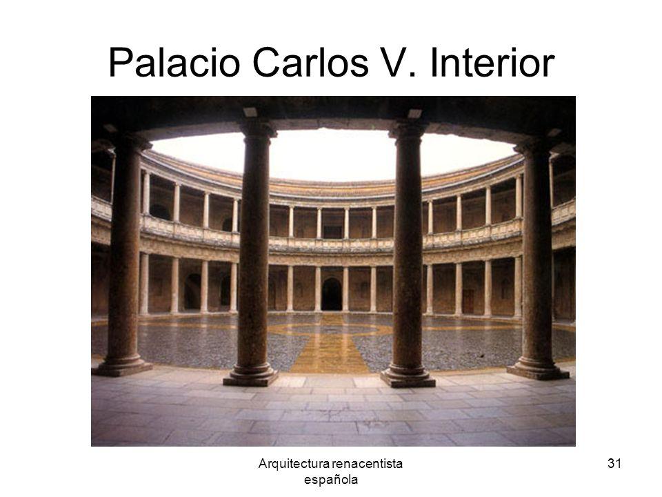Palacio Carlos V. Interior