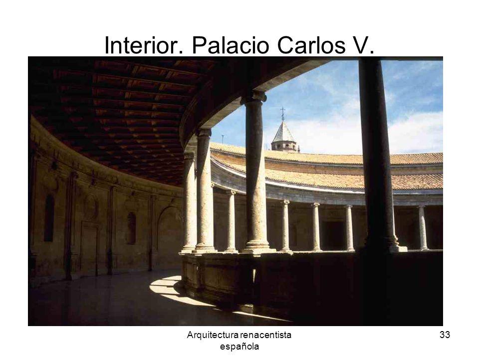 Interior. Palacio Carlos V.