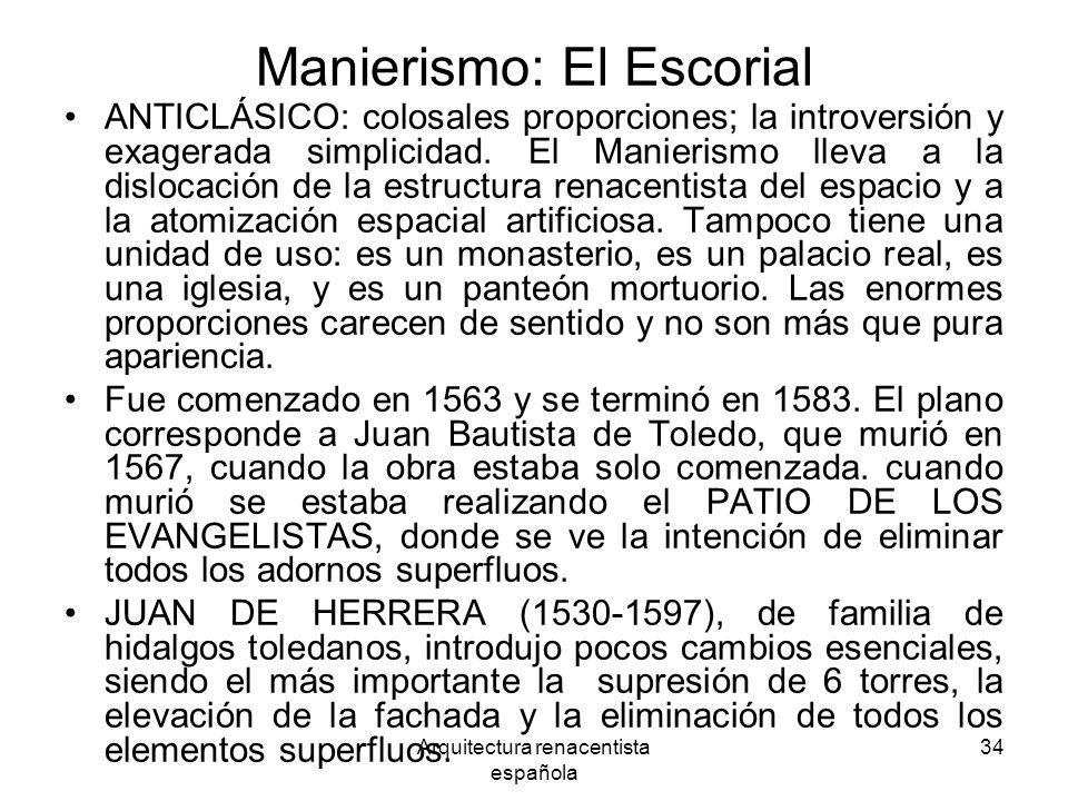 Manierismo: El Escorial