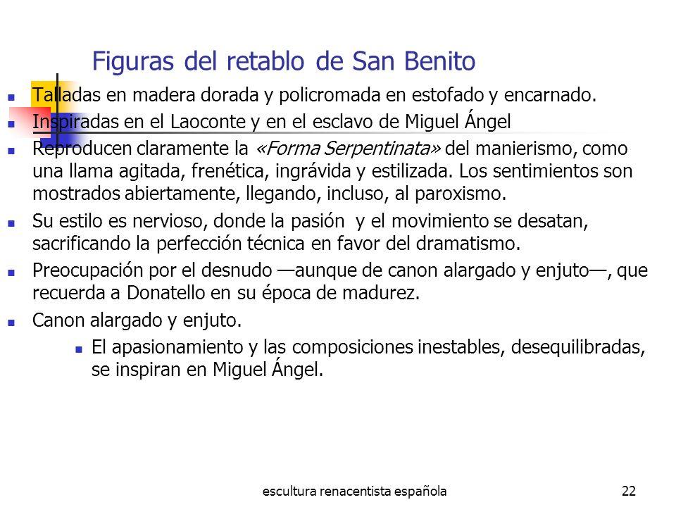 Figuras del retablo de San Benito