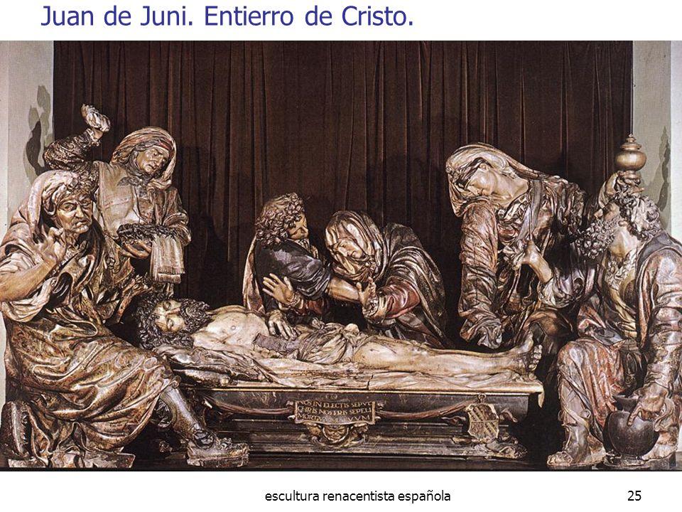 Juan de Juni. Entierro de Cristo.