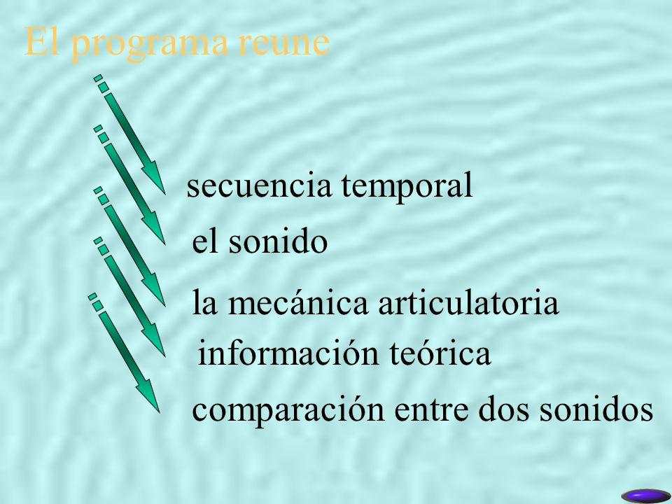 El programa reune secuencia temporal el sonido