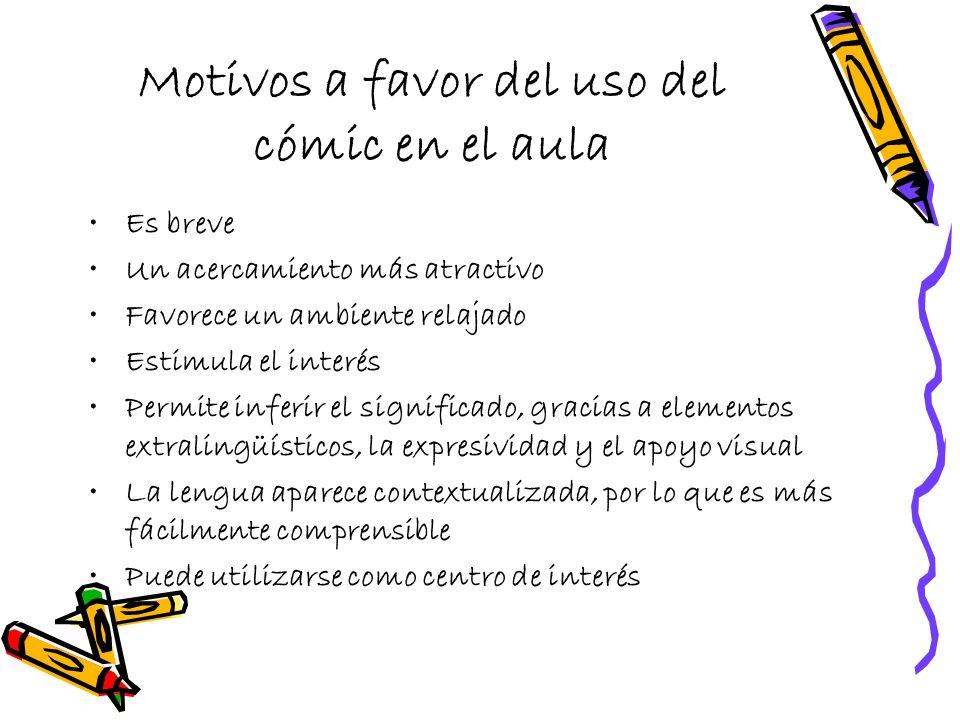Motivos a favor del uso del cómic en el aula