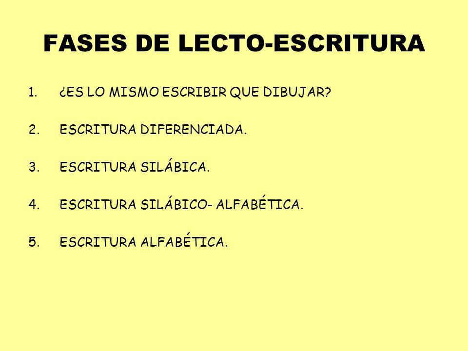 FASES DE LECTO-ESCRITURA