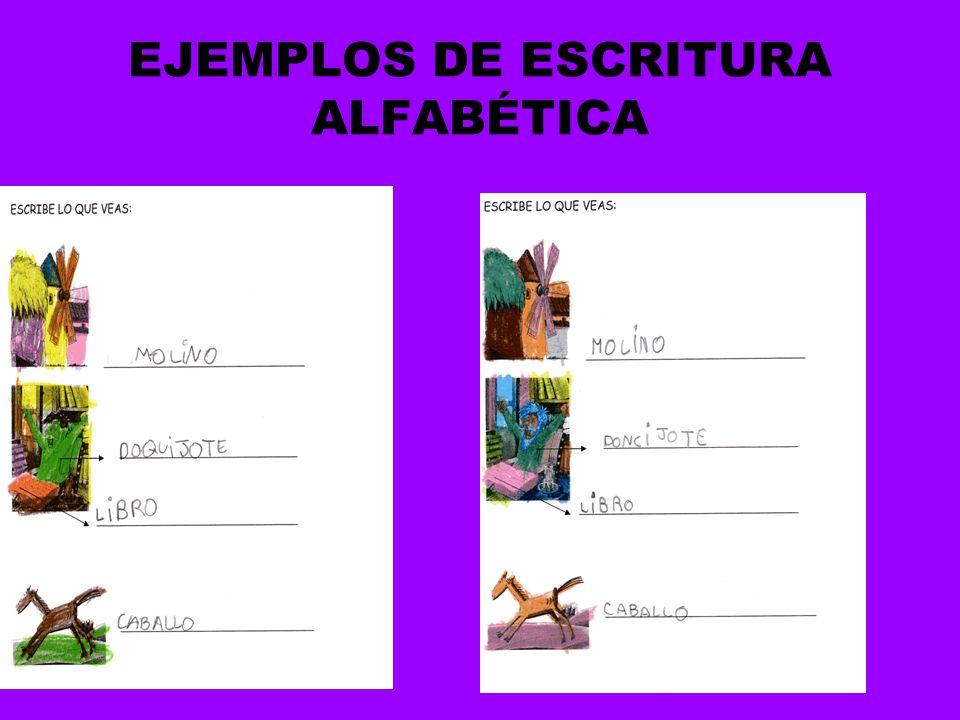 EJEMPLOS DE ESCRITURA ALFABÉTICA