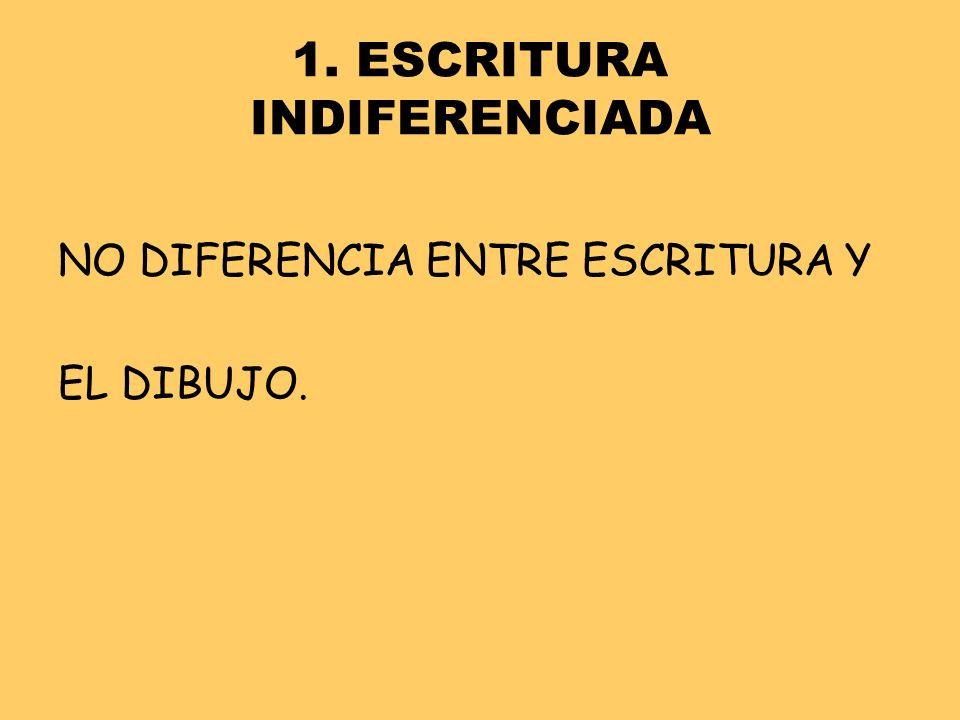 1. ESCRITURA INDIFERENCIADA