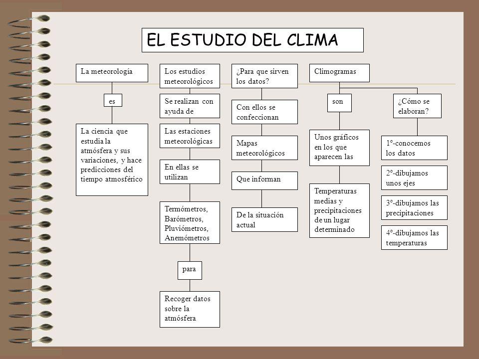 EL ESTUDIO DEL CLIMA La meteorología Los estudios meteorológicos
