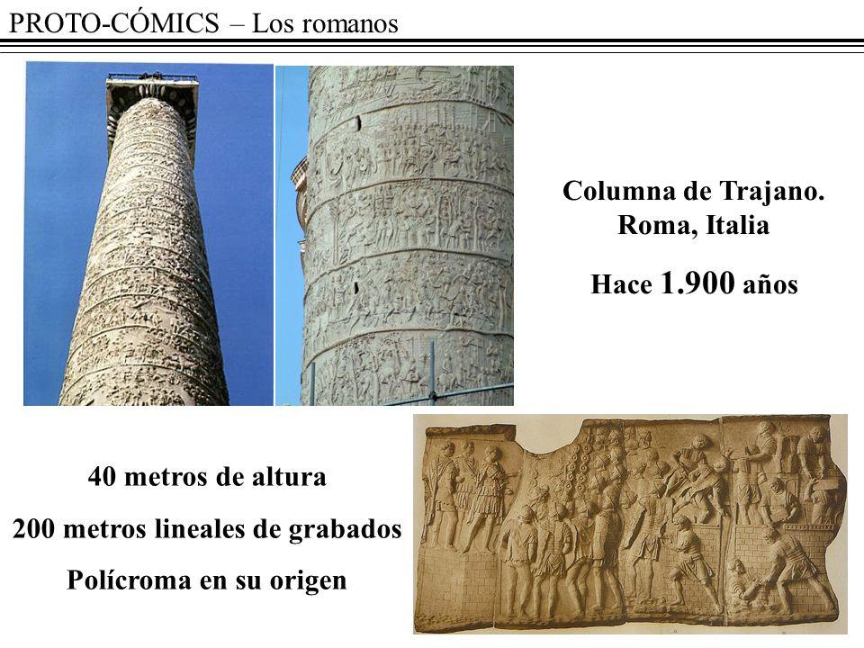 Columna de Trajano. Roma, Italia 200 metros lineales de grabados