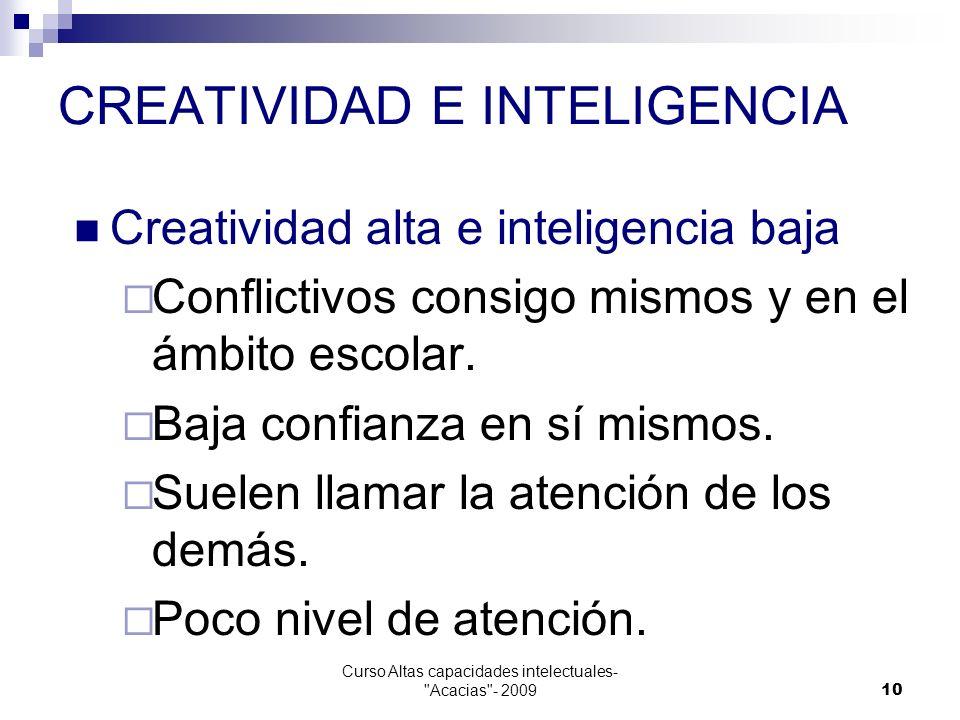 CREATIVIDAD E INTELIGENCIA