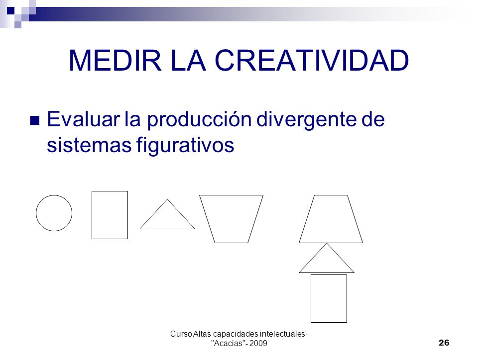 Curso Altas capacidades intelectuales- Acacias - 2009