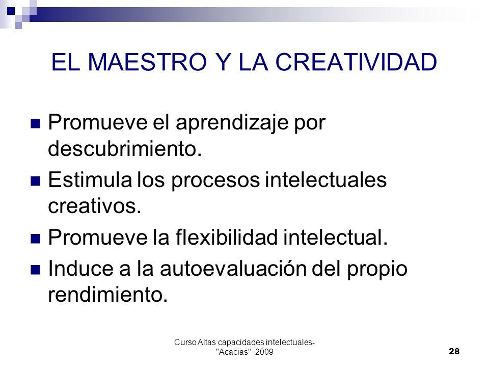 EL MAESTRO Y LA CREATIVIDAD