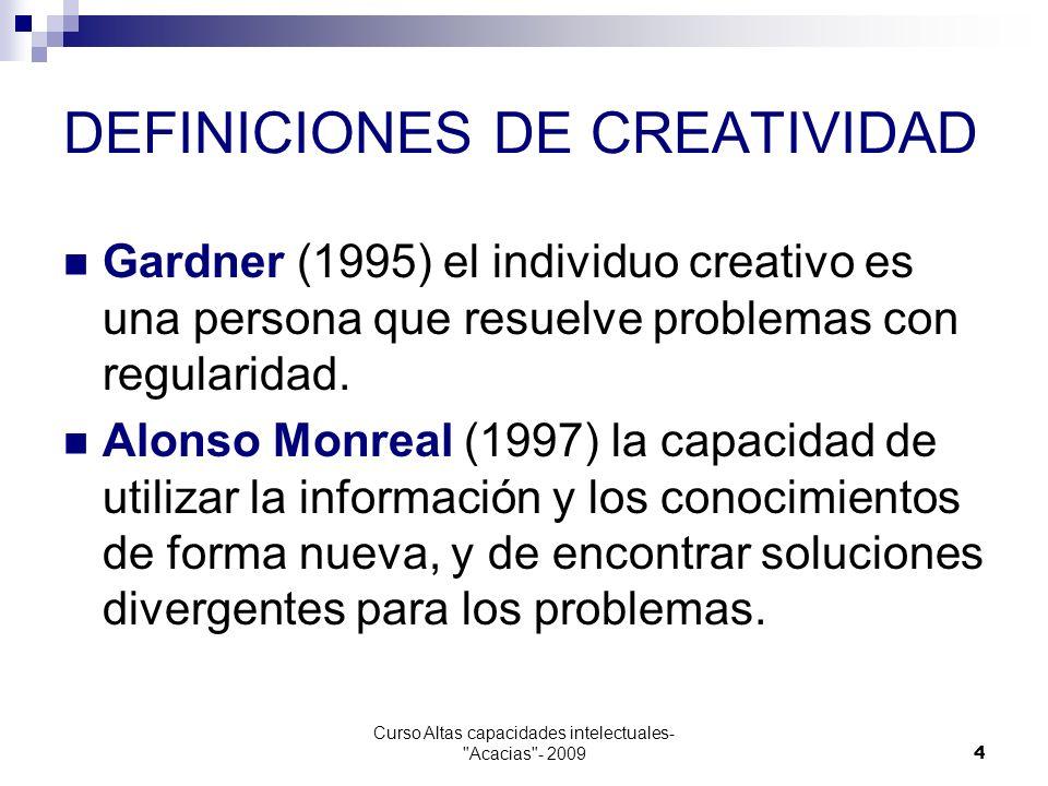 DEFINICIONES DE CREATIVIDAD