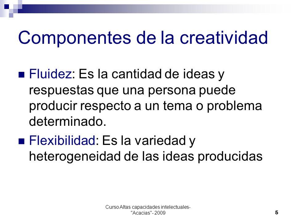 Componentes de la creatividad