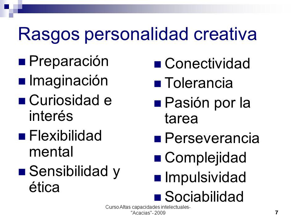 Rasgos personalidad creativa
