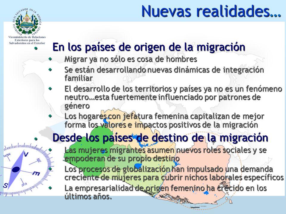 Nuevas realidades… En los países de origen de la migración